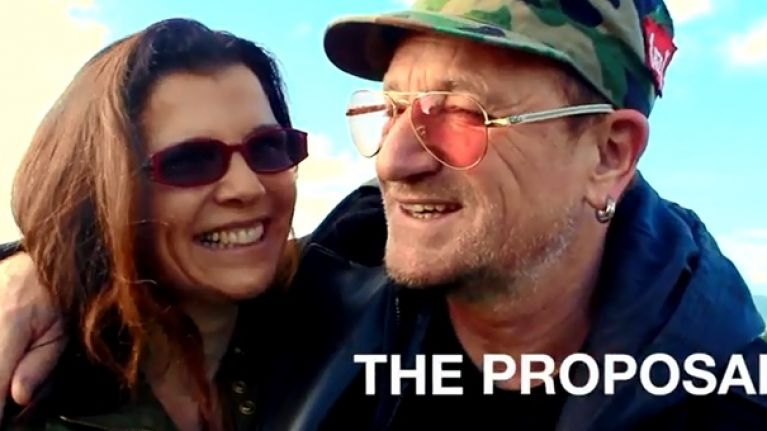 Video: Irishman enlists the help of Bono and Keywest to stage amazing marriage proposal in Dublin