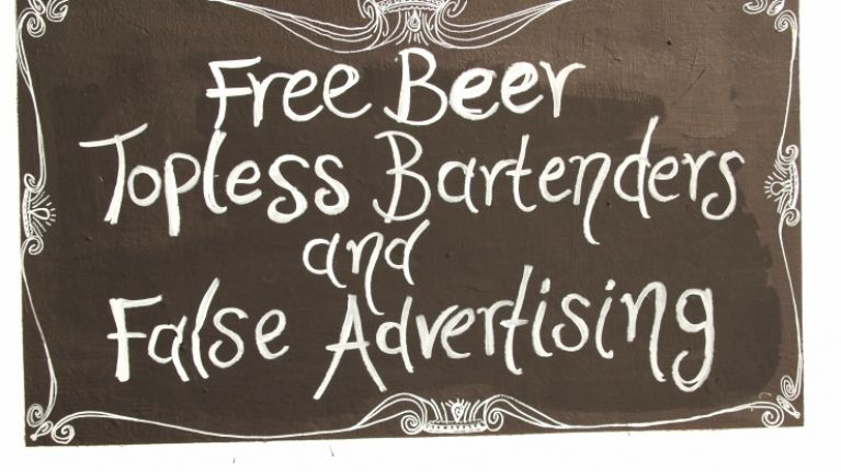 Pic: This Tinder-themed pub blackboard is very clever
