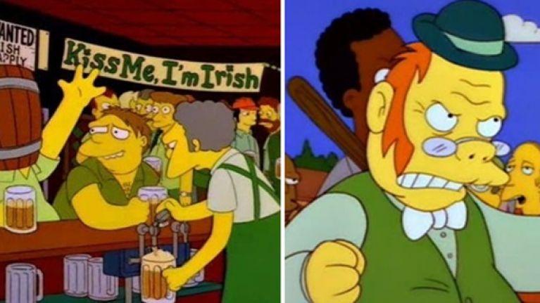 Here are the very best Irish references in The Simpsons   JOE is ... #irishCoffee