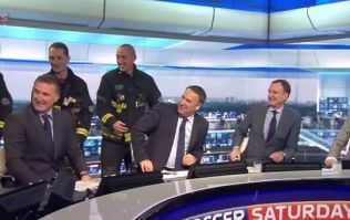 Video: Fireman Jeff saves the day after Soccer Saturday studio is evacuated