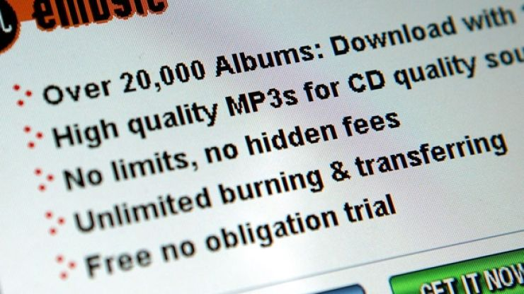 Bad news if you're in Ireland and are into illegally downloading music