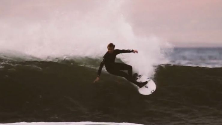 Video: This footage of surfers in the North West is breathtaking