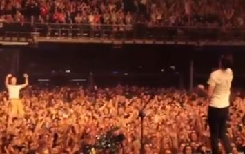 Video: This guy made it his business to catch a drumstick at the end of The Coronas gig on Saturday