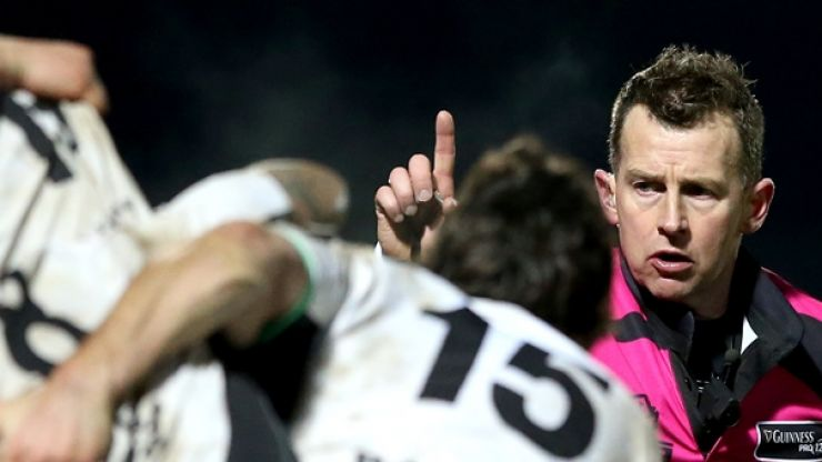 Pic: Leinster fans present Nigel Owens with passport after Ryanair debacle
