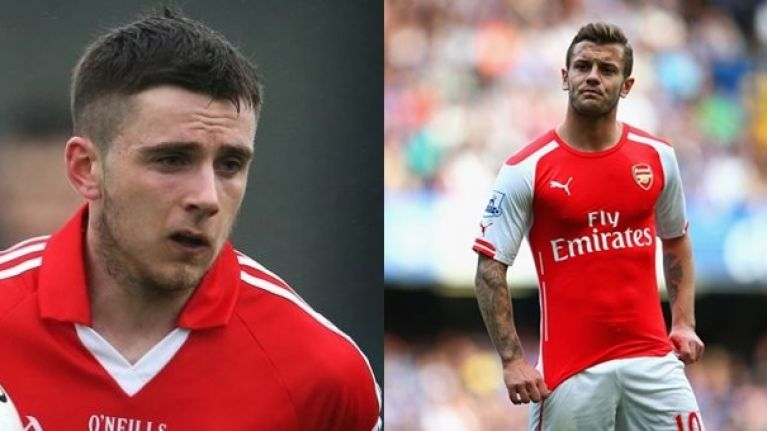 Pic: Jack Wilshere has some lovely words for Cork's inspirational GAA player Jamie Wall