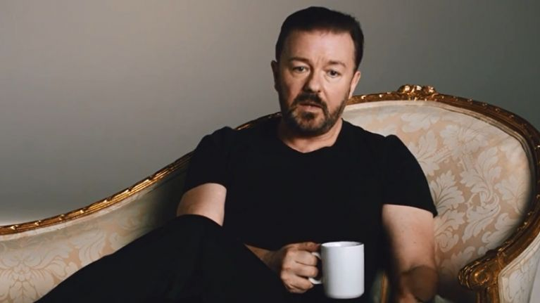 Video: Zero fu**s were given by Ricky Gervais in this ad for Netflix in Australia