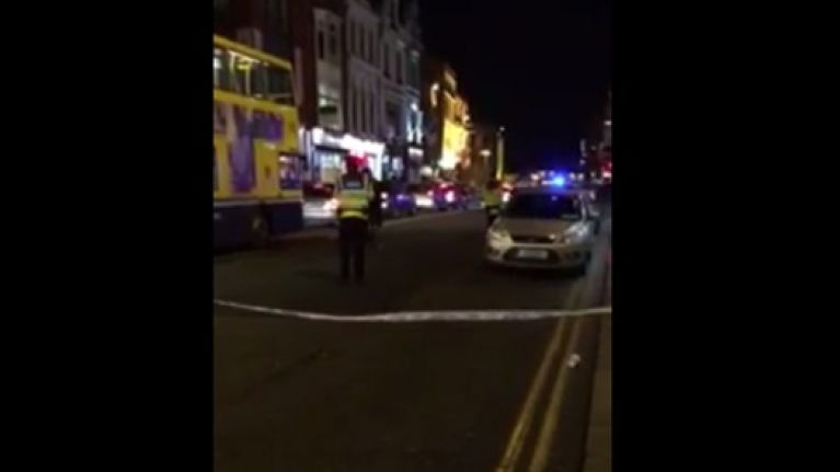 Video: A small sink hole is causing some big traffic problems in Dublin this evening