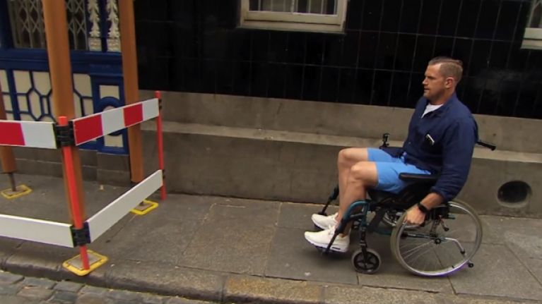 VIDEO: Jamie Heaslip and Felix Jones travel from Aviva to Thomond in wheelchairs