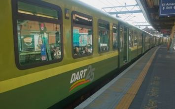 Large section of DART line suspended until further notice due to fire damage