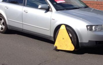 VIDEO: A man in Limerick getting a clamp off his car using an angle grinder