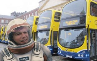PIC: A poster for The Martian on a Dublin Bus makes Matt Damon look like Hitler