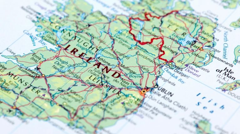 PIC This map shows how over half of Irelands population lives on