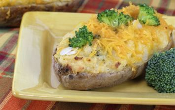 Pure and Simple Recipe of the Day: Double-Baked Kale and Broccoli Stuffed Potatoes
