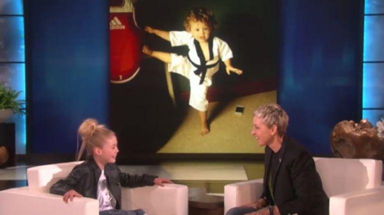 Video Irish Karate Kid Jesse Jane Was Amazing On The Ellen Show And