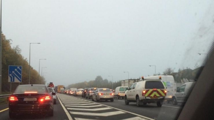 Drivers should expect delays on M50 due to car fire