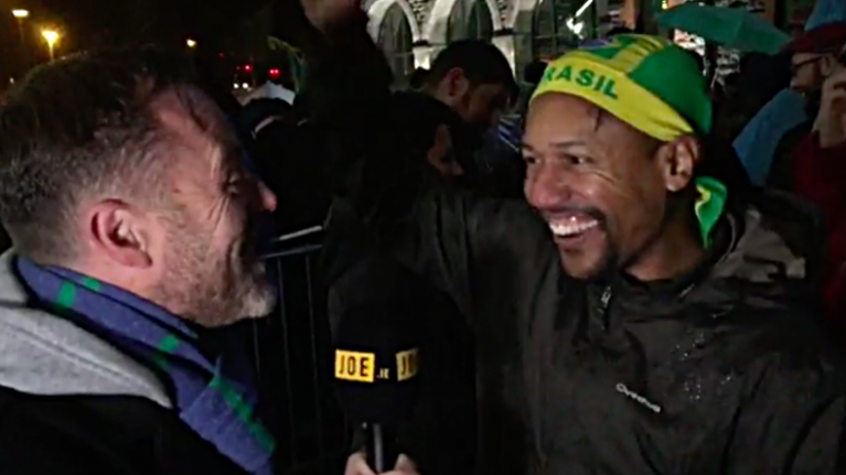 VIDEO: JOE meets U2 fans at first of their homecoming gigs