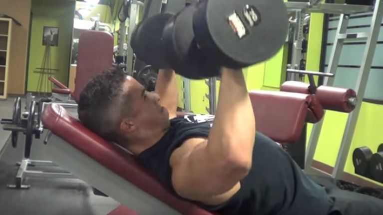easy exercise of the week incline dumbbell press joe is the voice