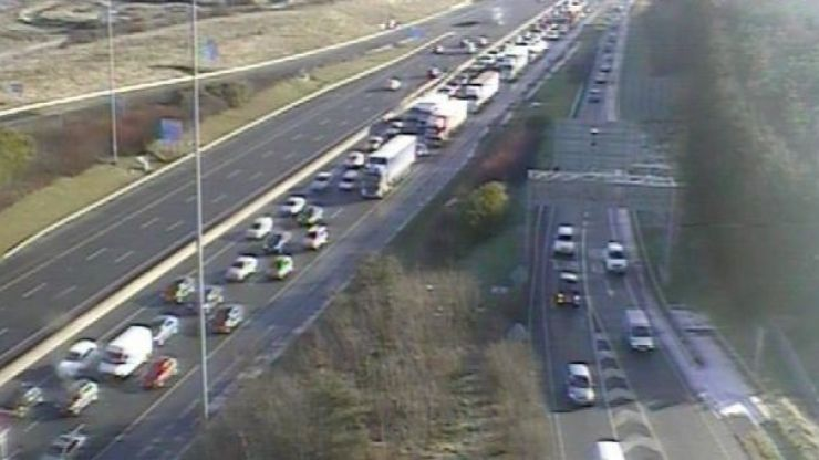 "AA Roadwatch reports ""extremely long delays"" on M50 on Monday morning"