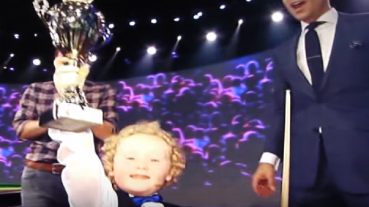 VIDEO: Watch this 4-year-old snooker sensation from Tullamore win himself a trophy on German television