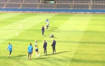 VIDEO: Lionel Messi scores outrageous long-range effort into tiny goal at Barcelona training in Japan