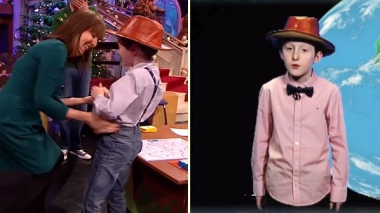 VIDEO: The Evelyn Cusack fanboy from the Toy Show makes his weather presenting debut