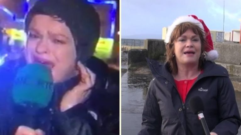 VIDEO: Teresa Mannion returns to the scene of her famous report for a great cause