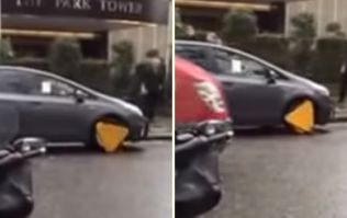 VIDEO: This is what happens when you drive with a clamp on your wheel