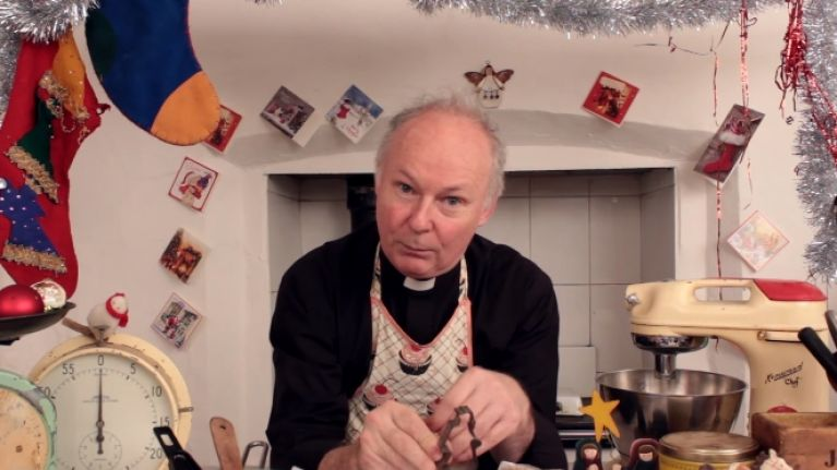 VIDEO: Years after the show ended, this Father Ted priest is still going strong