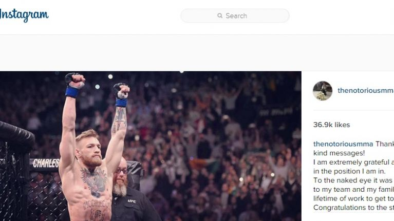 PIC: Conor McGregor has just posted this very special message for fans on Instagram