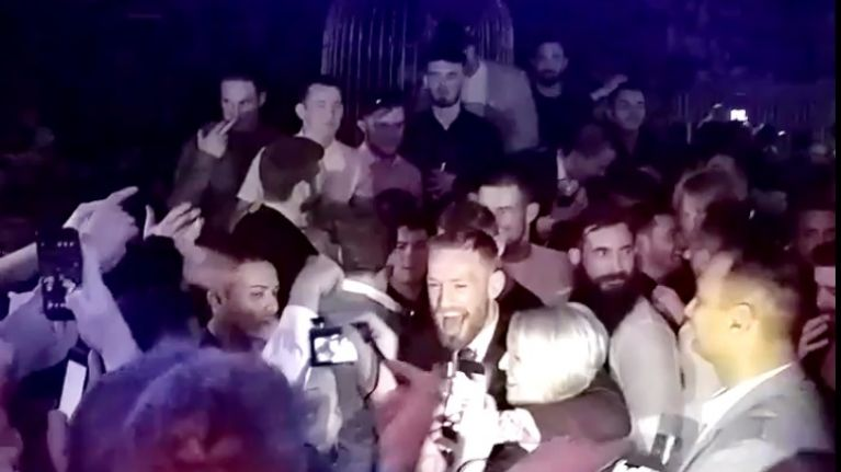 VIDEO: Conor McGregor is in full-on party mode as he raps at his after-party in Las Vegas