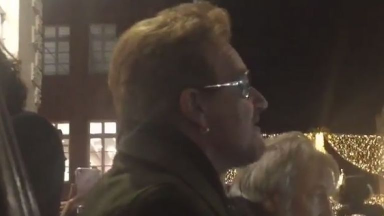 WATCH: Bono, Hozier and Glen Hansard are busking on Grafton Street