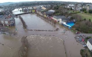 VIDEO: Drone captures footage of devastating Storm Frank flooding in Wexford