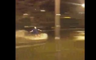 VIDEO: Wakeboarder makes the most of Storm Frank floods in Monaghan