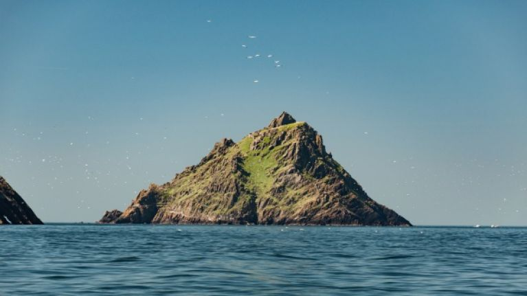 PICS: Irish Air Corps capture stunning aerial shots of Star Wars location, the Skellig Islands