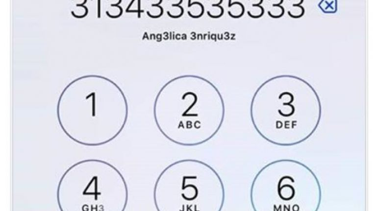 pic how many times can you see the number 3 on this iphone screen