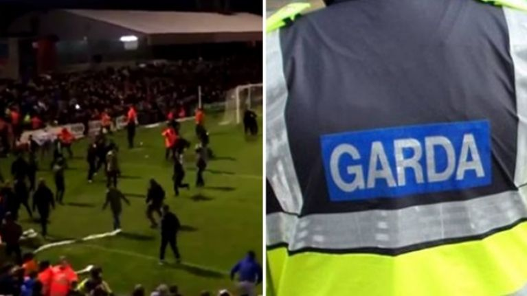 VIDEO: Fighting between the fans of Bohemians and Shamrock Rovers at Dalymount
