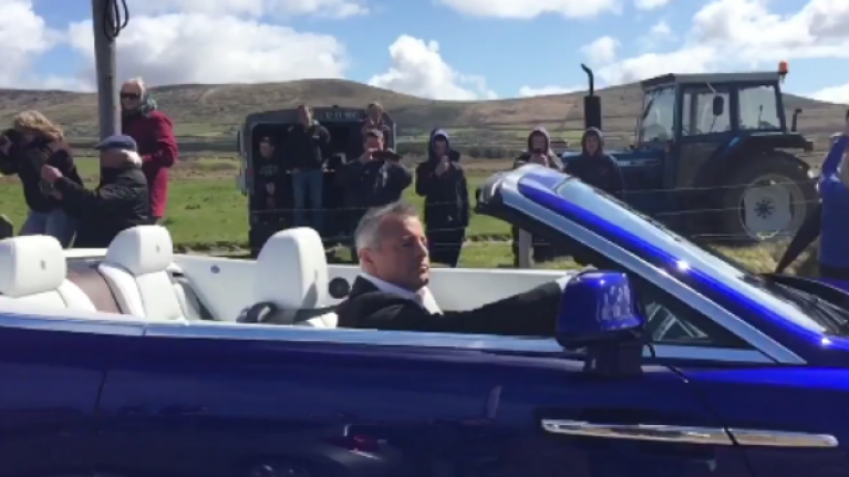 VIDEO: This slo-mo vid of Chris Evans and Matt LeBlanc arriving in West Kerry is glorious
