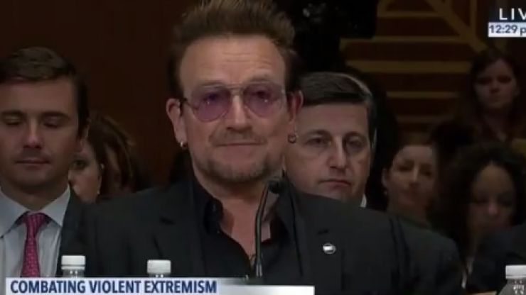 WATCH: Bono has suggested that Sacha Baron Cohen and Amy Schumer tackle Isis