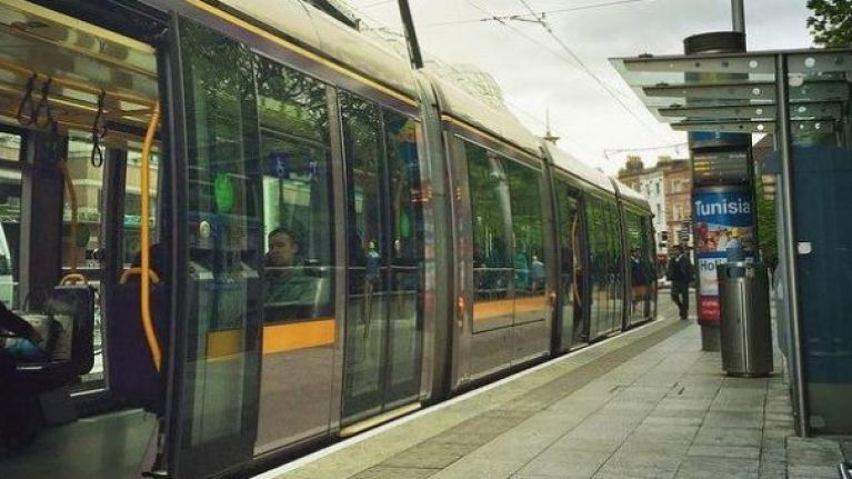 A woman has died after being struck by the Luas in Dublin