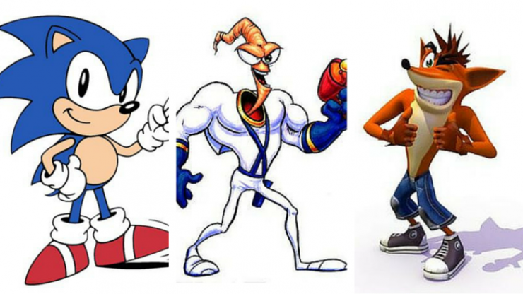 How many of these '90s video game characters can you name?