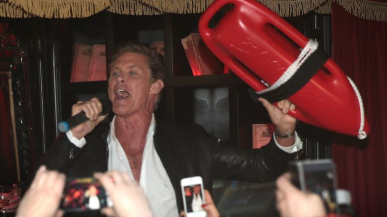VIDEO: David Hasselhoff proved he's a cool guy on Ray D'Arcy and in Dublin last night