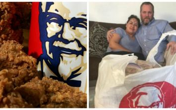 This guy drove 870 miles and spent £300 to get KFC as an anniversary gift for his wife