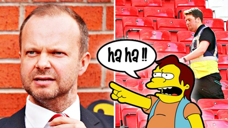 Everyone is laughing at the absolute farce at Old Trafford following fake bomb blunder