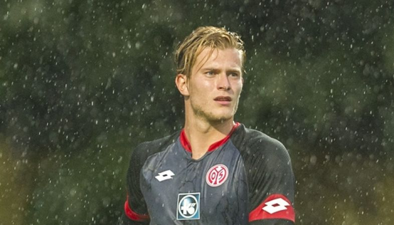 MEYRIN, SWITZERLAND - JULY 22:   Loris Karius of 1. FSV Mainz 05 in action during the pre-season friendly match between 1. FSV Mainz 05 and AS Monaco at Stade des Arberes on July 22, 2015 in Meyrin, Switzerland.  (Photo by Harold Cunningham/Getty Images)