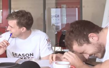 WATCH: Les Kiss is the latest victim of a Paddy Jackson and Andrew Trimble prank phone call