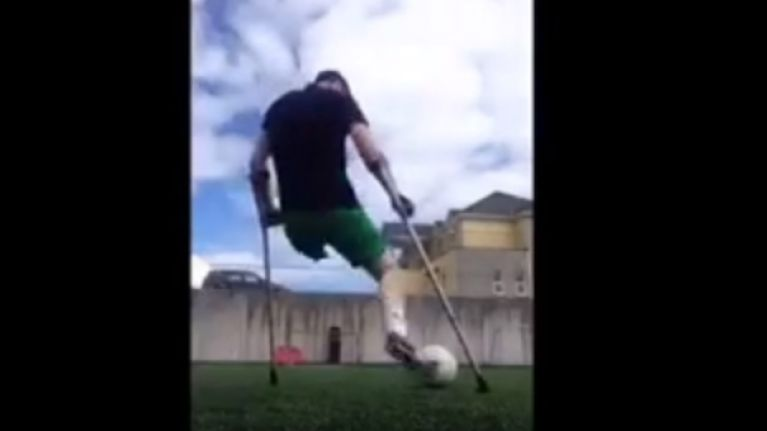 WATCH: Kerry amputee footballer pulls off incredible bit of skill in Cork