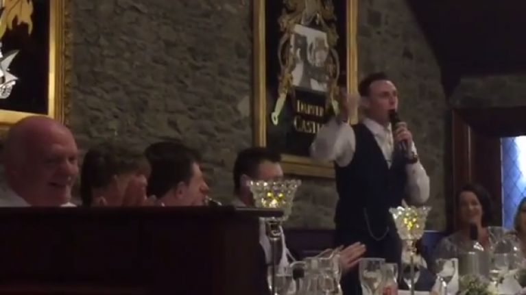 WATCH: Louth man gets married and thanks everybody with epic Home