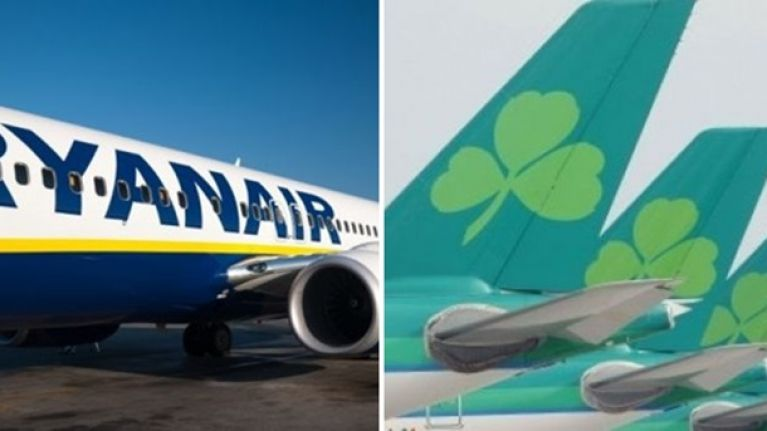 Ryanair and Aer Lingus cancel almost 100 flights due to