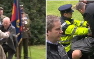 VIDEO: Canadian Ambassador to Ireland tackles protester at ceremony in Dublin to honour soldiers killed in 1916