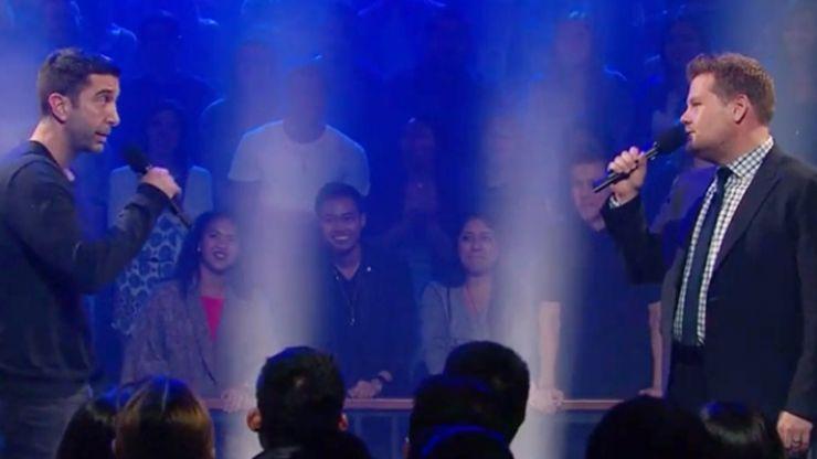 VIDEO: James Corden vs David Schwimmer in a rap-battle is absolutely fantastic TV